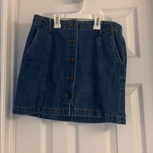 Denim button up skirt from forever 21